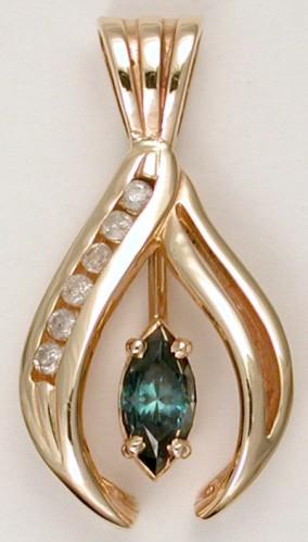 sapphire designer pendant