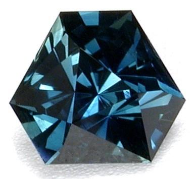 custom faceted sapphire gemstone