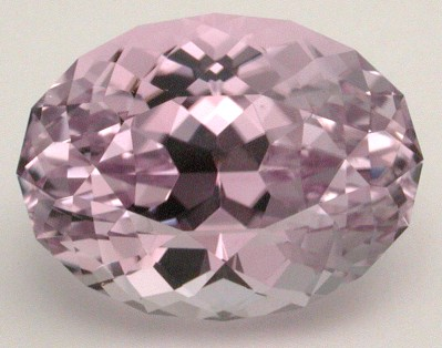 faceted kunzite gemstone